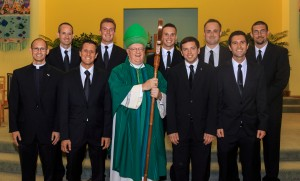 Bishop Dennis Sullivan accepted nine new seminarians for the Diocese of Camden who will begin studies this fall.